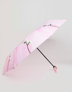 Компактный зонт с цветочным принтом Ted Baker - Розовый