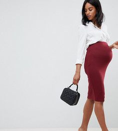 Трикотажная юбка-карандаш ASOS DESIGN Maternity - Красный