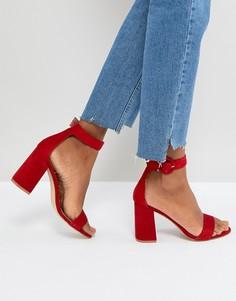 Красные босоножки на блочном каблуке RAID Genna - Красный