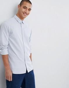 Рубашка в полоску с длинными рукавами Selected Homme - Белый