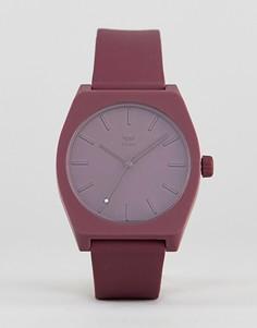 Часы с бордовым силиконовым ремешком Adidas Z10 Process - Красный