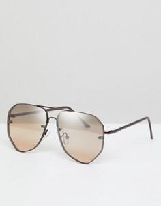 Солнцезащитные очки-авиаторы бронзового цвета ASOS DESIGN - Медный