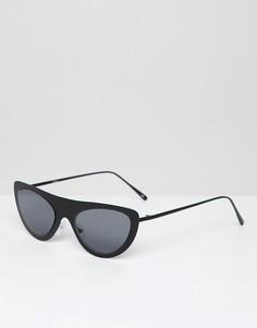 Черные металлические очки кошачий глаз ASOS DESIGN - Черный
