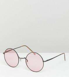 Круглые солнцезащитные очки в металлической оправе ASOS DESIGN - Серый