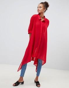 Рубашка с асимметричным краем QED London - Красный