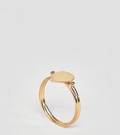 Кольцо из позолоченного серебра ASOS DESIGN - Золотой