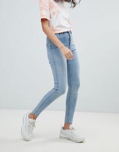 Суперэластичные джинсы скинни с завышенной талией Weekday - Синий