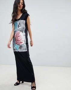 Платье макси Religion Blush - Черный