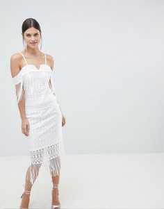 Платье миди на бретелях C By Cubic - Белый
