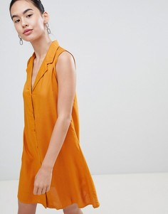 Платье на пуговицах спереди Pimkie - Коричневый