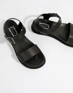 Кожаные сандалии на платформе Depp - Черный