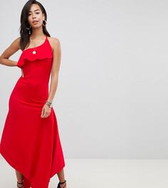 Длинное платье халтер ASOS DESIGN Tall - Красный