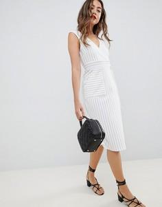 Платье в полоску с запахом ASOS DESIGN - Мульти
