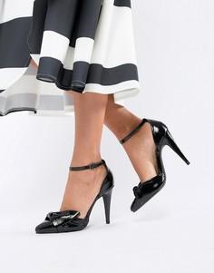 Туфли на каблуках с бантом New Look - Черный