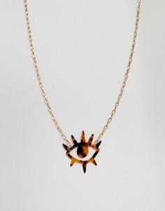 Ожерелье с полимерной подвеской в виде глаза ASOS DESIGN - Золотой