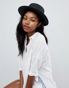 Черная соломенная шляпа South Beach - Черный