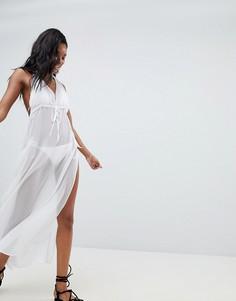 Пляжное платье с разрезами по бокам Brave Soul - Белый
