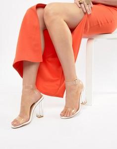 Босоножки на блочном каблуке PrettyLittleThing - Бежевый