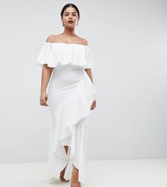 Платье с оборками Club L Plus - Белый