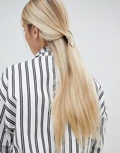 Золотистая круглая заколка для волос Monki - Золотой