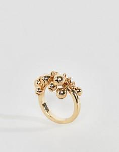 Золотистое кольцо с шаром Monki - Золотой