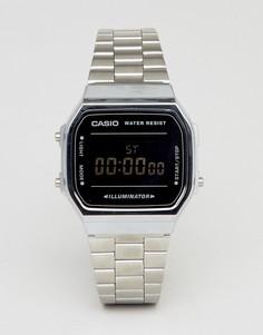 Цифровые часы (серебристый/черный зеркальный) Casio A168W - Серебряный