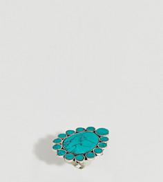 Броское кольцо с полудрагоценными камнями Sacred Hawk - Серебряный