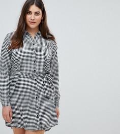 Платье-рубашка в клеточку AX Paris Plus - Мульти