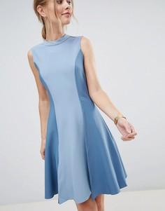 Приталенное платье Closet London - Синий