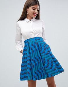 Рубашка и короткое приталенное платье Closet London - Мульти