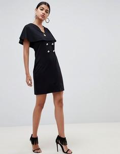 Свободное платье мини ASOS DESIGN - Черный