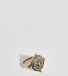 Большое кольцо с гравированным скарабеем Uncommon Souls - Золотой