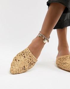 Золотистый браслет на ногу с подвесками ASOS DESIGN - Золотой