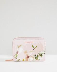 Кошелек на молнии с цветочным принтом Ted Baker - Розовый