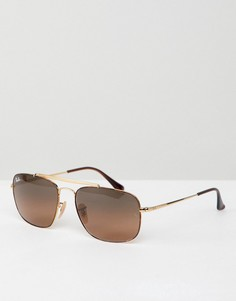 Солнцезащитные очки-авиаторы Ray-Ban - Золотой