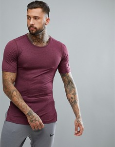Фиолетовая приталенная футболка в стиле милитари Nike Training AA1591-652 - Фиолетовый