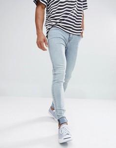 Выбеленные джинсы скинни Cheap Monday Him - Синий