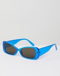 Квадратные солнцезащитные очки ASOS DESIGN - Синий