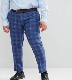 Узкие брюки в клетку Gianni Feraud PLUS - Темно-синий
