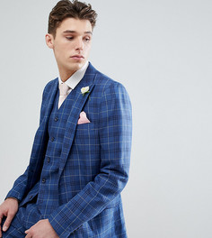 Узкий пиджак в клетку Gianni Feraud TALL Wedding - Темно-синий