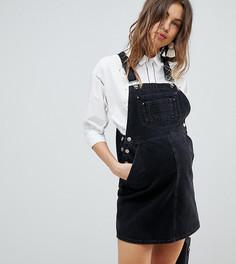 Черный джинсовый сарафан ASOS DESIGN Maternity - Черный