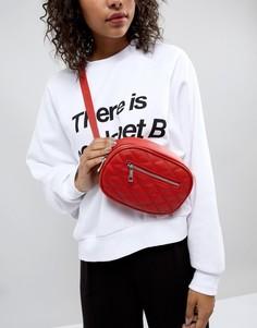 Стеганая сумка-кошелек на пояс New Look - Красный