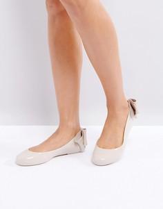 Туфли на плоской подошве с бантом Melissa Space Love - Медный