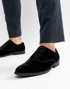 Бархатные туфли со шнуровкой ASOS DESIGN - Черный