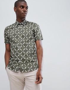 Рубашка с короткими рукавами и принтом Ted Baker - Зеленый