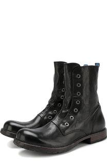 Высокие кожаные ботинки без шнуровки Moma