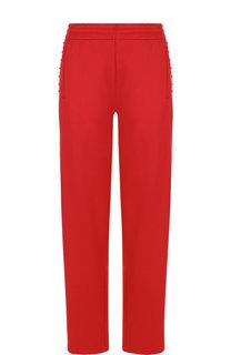Однотонные брюки прямого кроя с карманами Valentino