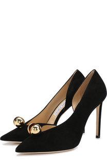 Замшевые туфли Sadira 100 на шпильке Jimmy Choo