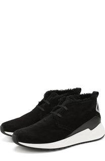 Замшевые кроссовки на шнуровке с внутренней меховой отделкой Buscemi