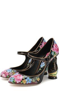 Лаковые туфли Матрешка на фигурном каблуке Dolce & Gabbana